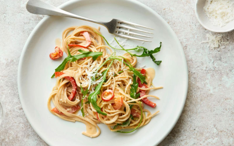 Spaghetti con Salsa di Peperoni