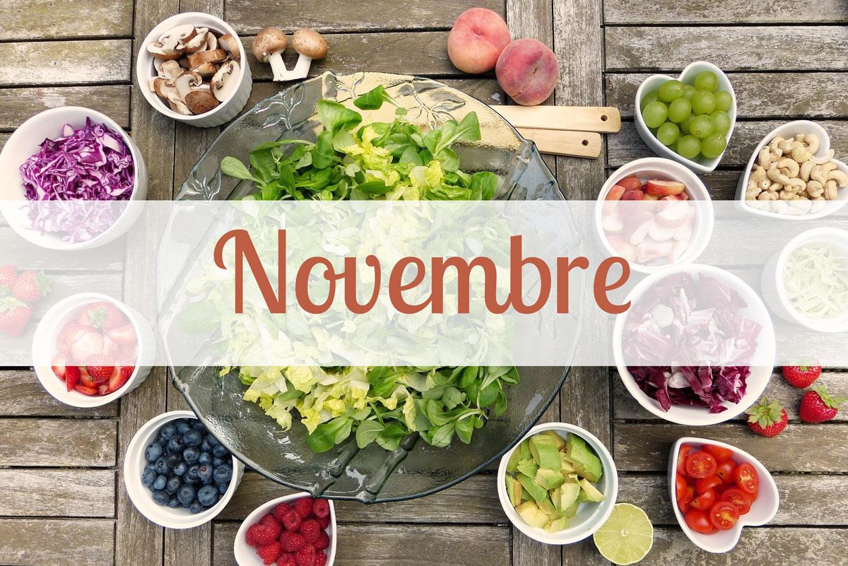 Frutta e Verdura di stagione per il mese di Novembre