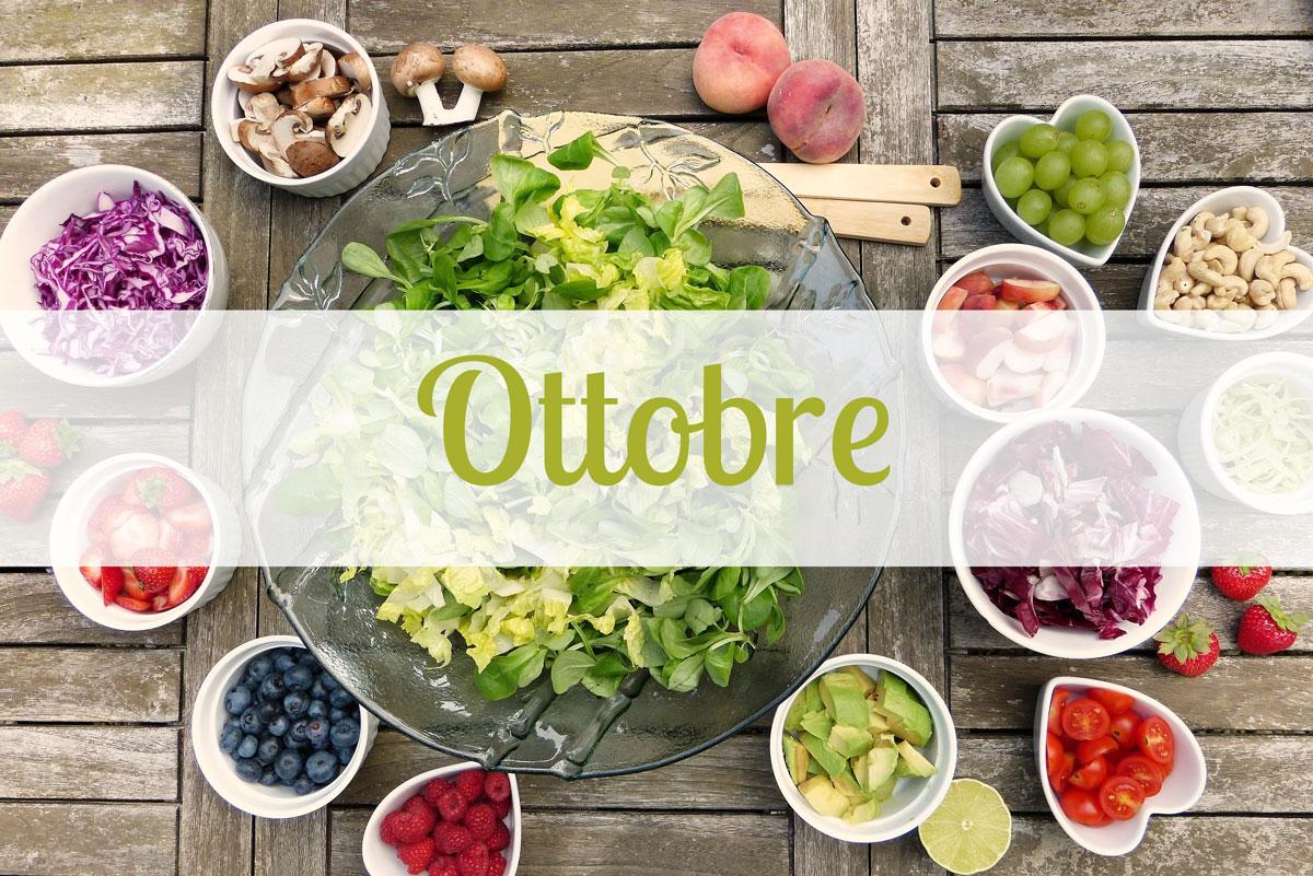 Frutta e Verdura di stagione per il mese di Ottobre