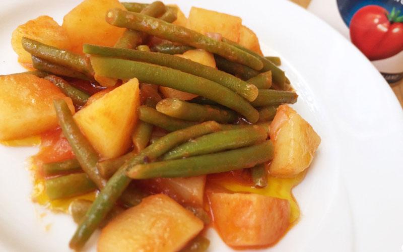 Fagiolini in Umido con Patate