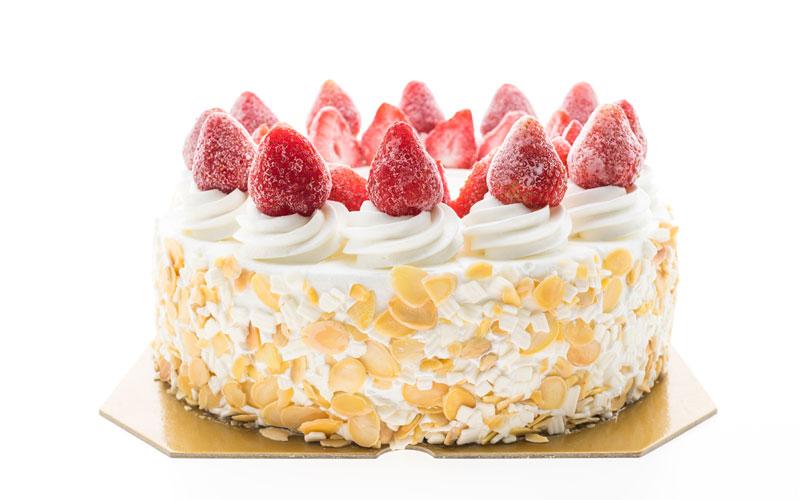 Torta Gelato con Fragola e Cioccolato Bianco